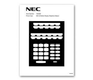Nec phone label template software.